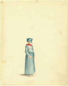 Creole woman. Acc. # 1953.158.4. Watercolor on paper by Anna Maria von Phul, 1818. Missouri Historical Society Museum Collections. Von Phul 4. Scan © 2007, Missouri Historical Society.